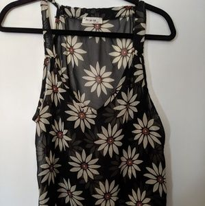 Tops - Sheer Daisy Print Tank Top